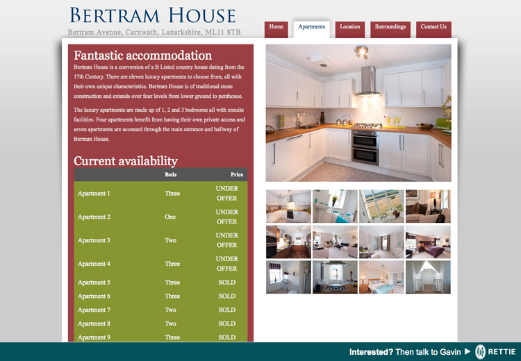 A Hole Productions - Artwork and Design - Bertram House - Website