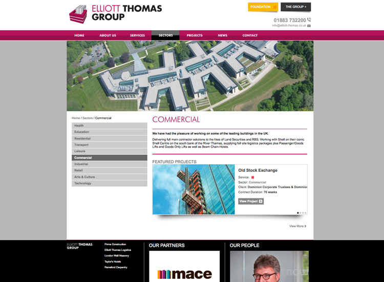 A Hole Productions - Artwork and Design - Elliot Thomas Group - Website