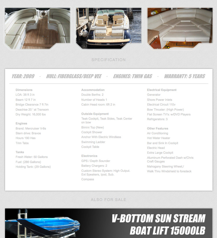 A Hole Productions - Artwork and Design - M-Power Boats - Website